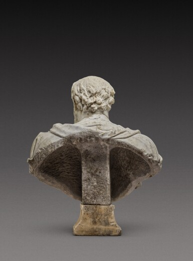 View 6. Thumbnail of Lot 121. Italian, 17th century | Monumental Bust of a Philosopher.