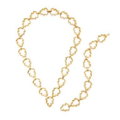 View 3. Thumbnail of Lot 39. Gold Necklace.