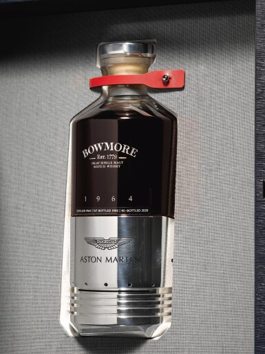 View 2. Thumbnail of Lot 1. Black Bowmore Aston Martin DB5 Whisky 49.6 abv 1964 (1 BT75).