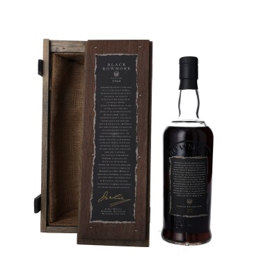 View 3. Thumbnail of Lot 3. Bowmore Black Second Release 50.0 abv 1964 (1 BT75).