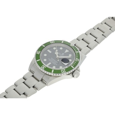 View 6. Thumbnail of Lot 97. REFERENCE 16610LV SUBMARINER 'KERMIT' A STAINLESS STEEL AUTOMATIC WRISTWATCH WITH DATE AND BRACELET, CIRCA 2003.