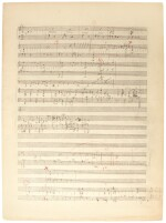 F. Delius. Collection of autograph working drafts for an unknown set of piano pieces, and other works, c.1920