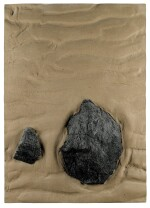 BOYLE FAMILY | STUDY OF RIPPLED SAND WITH TWO ROCKS