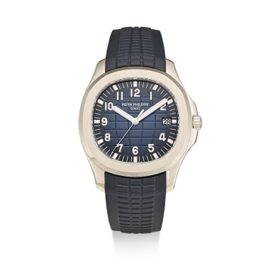 PATEK PHILIPPE | AQUANAUT, REFERENCE 5168 A WHITE GOLD WRISTWATCH WITH DATE, MADE TO COMMEMORATE THE 20TH ANNIVERSARY OF THE AQUANAUT, CIRCA 2017