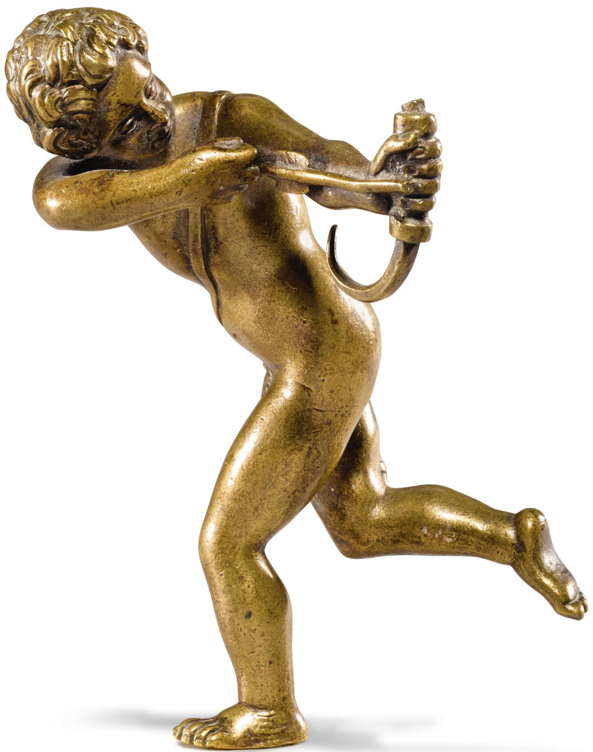 View full screen - View 1 of Lot 56. AFTER ELIAS DE WITTE, CALLED CANDIDO (ACTIVE 1567-1574), ITALO-FLEMISH, PROBABLY 17TH CENTURY | CUPID RUNNING.