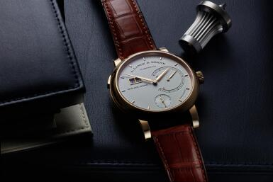 View 8. Thumbnail of Lot 294. Reference 130.032F Lange 31  A pink gold wristwatch with date, power reserve and zero-reset mechanism, Circa 2010 .
