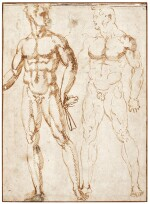 BACCIO BANDINELLI | TWO NUDES, ONE HOLDING A CLOTH