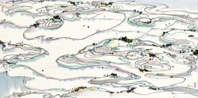View 1. Thumbnail of Lot 2523. Wu Guanzhong 吳冠中 | Paddy Fields 水田.