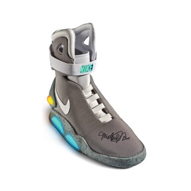 View 5. Thumbnail of Lot 1. Nike MAG 'Back to the Future' | 2011 | Dual Signed by Michael J. Fox.