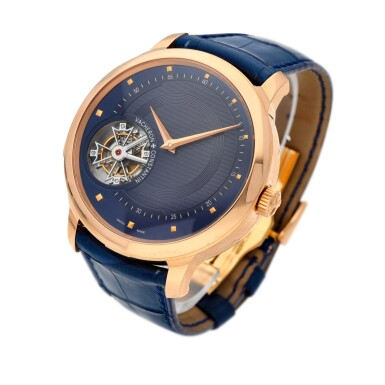 """View 3. Thumbnail of Lot 12. Unique """"Les Cabinotiers"""" reference 30015/000R-9608 A unique 18k pink gold manually wound minute repeating tourbillon with hidden perpetual calendar with moonphases beneath an officer case-back, circa 2011."""