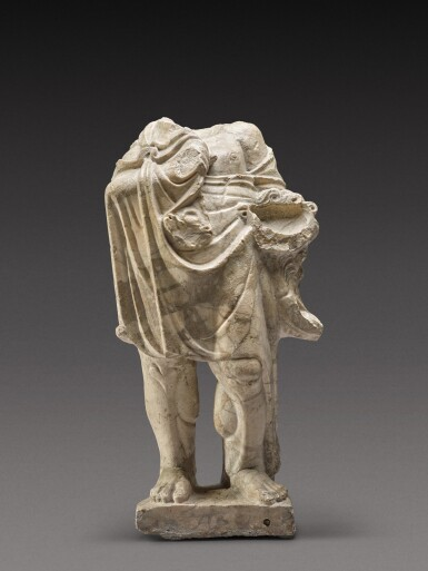 View 1. Thumbnail of Lot 78. A Roman Giallo Antico Marble Figure of Herakles, circa 2nd Century A.D..
