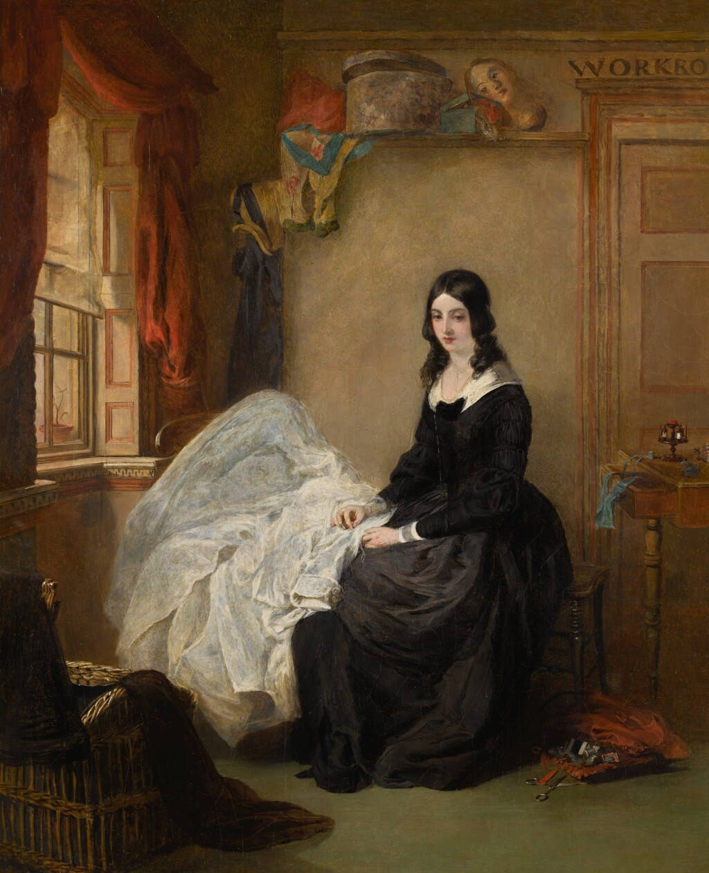 WILLIAM POWELL FRITH, R.A. | KATE NICKLEBY AT MADAME MANTALINI'S