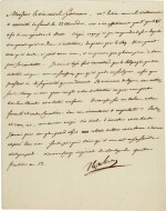 Napoleon I | letter signed to Admiral Ganteaume, ordering the invasion of England, 22 August 1805