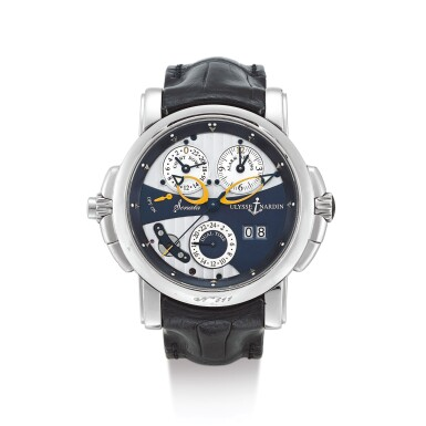 ULYSSE NARDIN  |  SONATA, REFERENCE 670-88  A WHITE GOLD DUAL TIME ZONE WRISTWATCH WITH DATE, ALARM AND COUNTDOWN INDICATION, CIRCA 2007 | 雅典 |