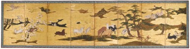 View 1. Thumbnail of Lot 7. ANONYMOUS, MOMOYAMA-EDO PERIOD, 17TH CENTURY | HORSES.
