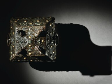 View 8. Thumbnail of Lot 578. AN EXCEPTIONALLY RARE AND IMPORTANT GOLD, SILVER AND GLASS-EMBELLISHED BRONZE VESSEL (FANG HU),  WARRING STATES PERIOD, 4TH / 3RD CENTURY BC.