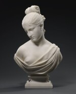 JAMES HENRY HASELTINE | BUST OF A YOUNG WOMAN, POSSIBLY LUCRETIA
