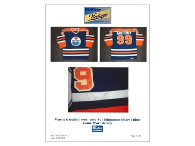 1979-80 Wayne Gretzky Edmonton Oilers Game Used, Photo Matched & Signed Rookie Season Road Jersey (Meigray & JSA)