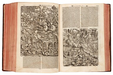 View 3. Thumbnail of Lot 259. Vergil, Opera Virgiliana, Lyon, 1529, later mottled calf.
