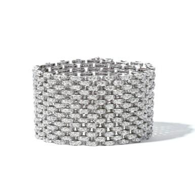 View 1. Thumbnail of Lot 7. Diamond Bracelet.
