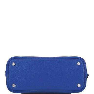 Hermès Bleu Electric Bolide 123 Mini of Chevre Leather with Palladium Hardware