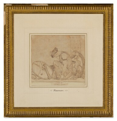 View 6. Thumbnail of Lot 38. JOHN FLAXMAN | THREE SCENES FROM LES EUMENIDES: ACTS I, 2 AND 4.