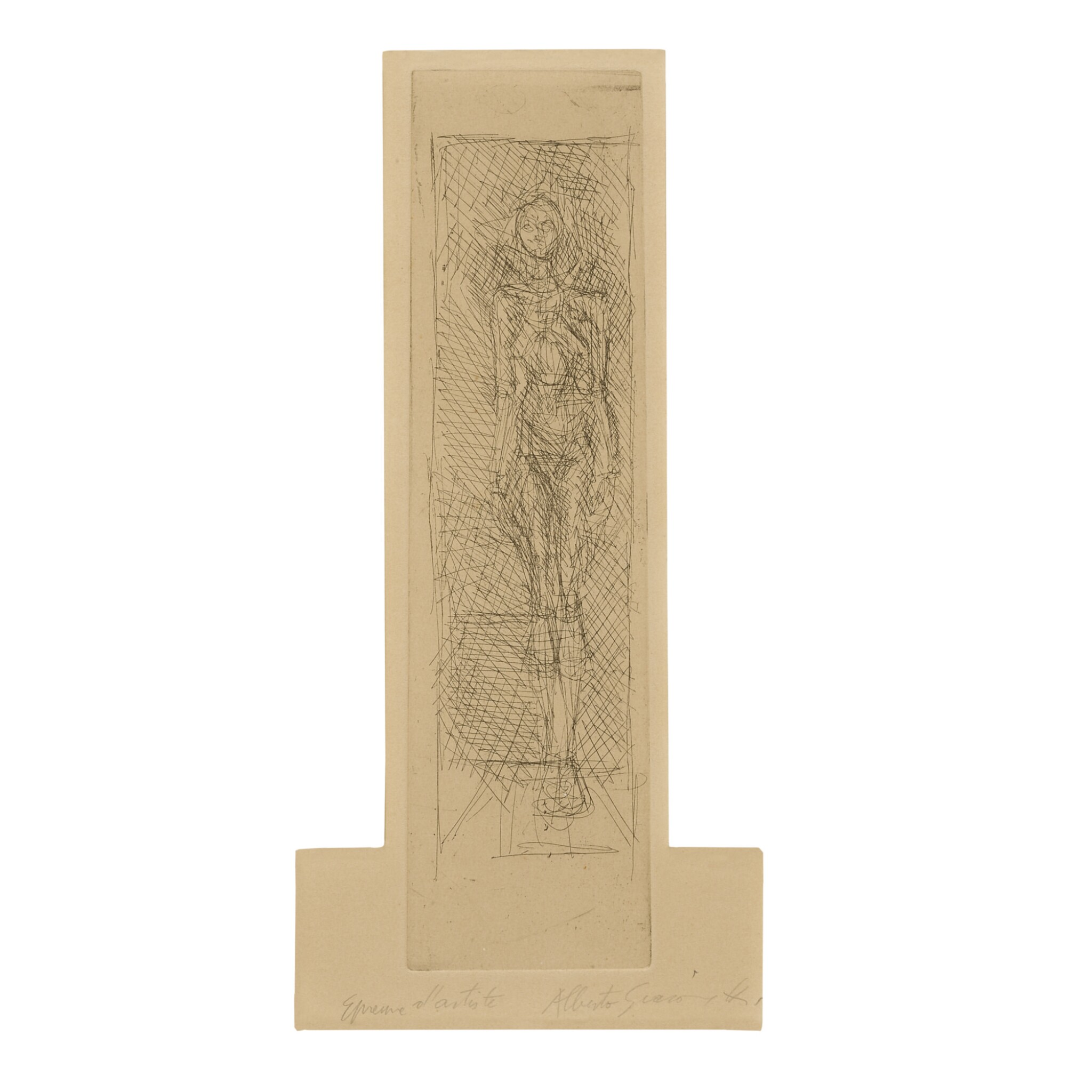 View full screen - View 1 of Lot 105. ALBERTO GIACOMETTI   NUDE FACING FRONT (LUST 65).