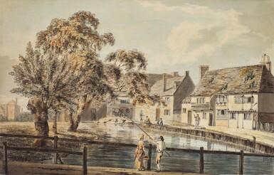 ENGLISH SCHOOL | Fishing on a Village Pond