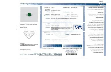 View 3. Thumbnail of Lot 165. Van Cleef & Arpels [梵克雅寶] | Tsavorite Garnet and Diamond Ring [沙弗來石配鑽石戒指].