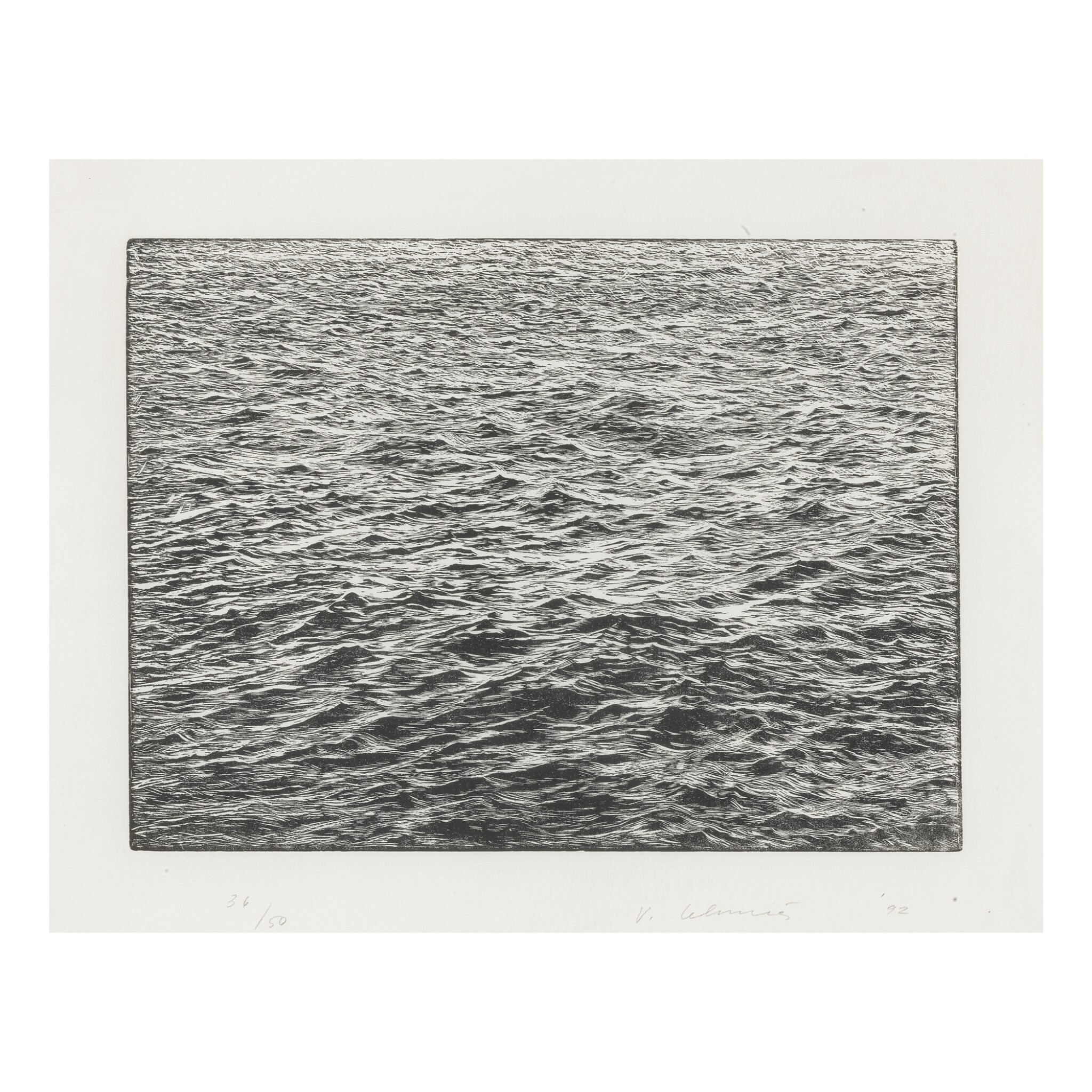 View full screen - View 1 of Lot 38. VIJA CELMINS |OCEAN SURFACE.