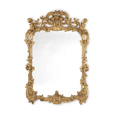 A LOUIS XV GILTWOOD MIRROR, MID-18TH CENTURY