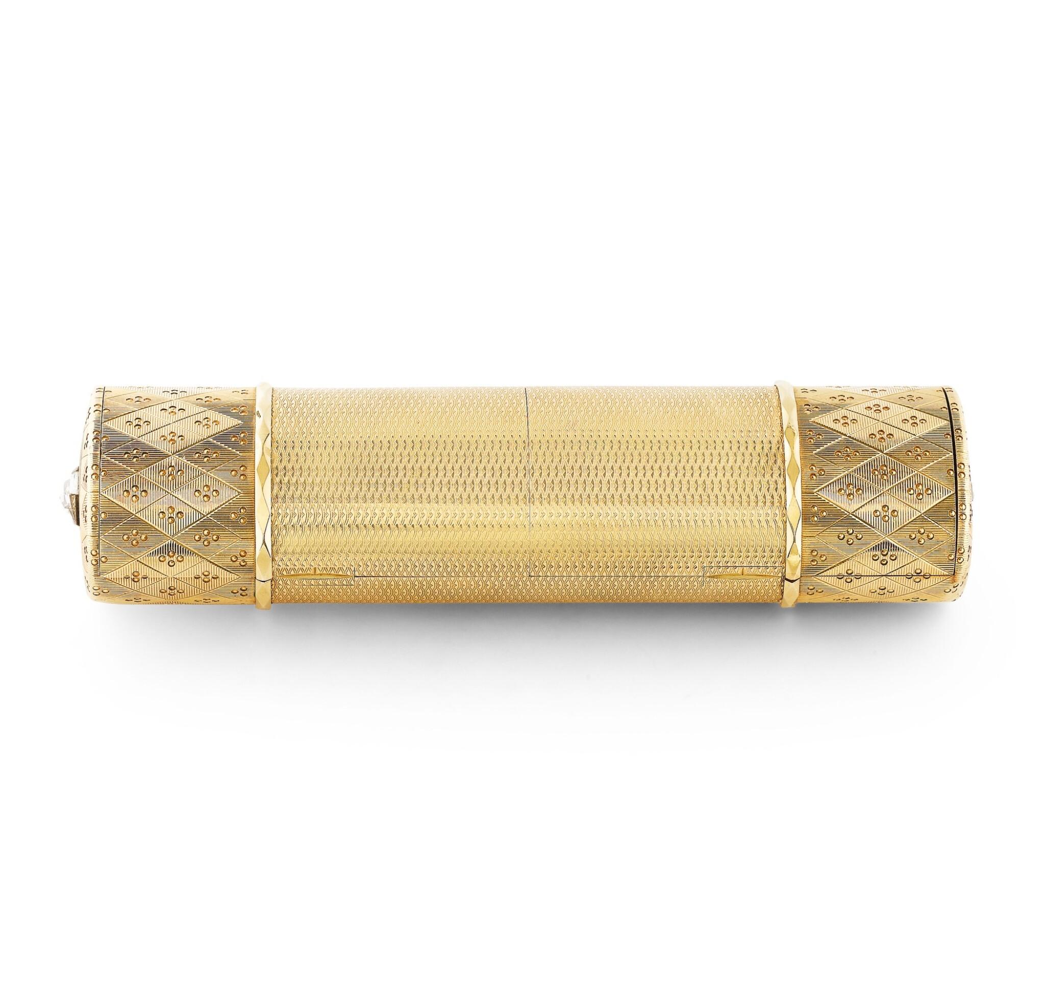 View full screen - View 1 of Lot 53. CARTIER | NÉCESSAIRE DE BEAUTÉ OR ET DIAMANTS, DESSINÉ PAR RUPERT EMMERSON | GOLD AND DIAMOND VANITY CASE, DESIGNED BY RUPERT EMMERSON.