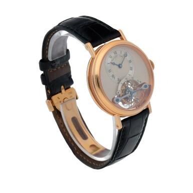 View 3. Thumbnail of Lot 444. Classique, Ref. 3350BR/12/286 Pink gold tourbillon wristwatch Made in 1996 | 寶璣 3350BR/12/286型號「Classique」粉紅金陀飛輪腕錶,1996年製.