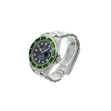 View 2. Thumbnail of Lot 97. REFERENCE 16610LV SUBMARINER 'KERMIT' A STAINLESS STEEL AUTOMATIC WRISTWATCH WITH DATE AND BRACELET, CIRCA 2003.