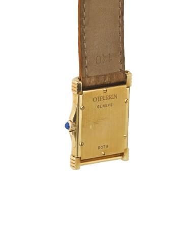 O.J. PERRIN   YELLOW GOLD WRISTWATCH WITH CASE-INTEGRATED CLASP, CIRCA 2000 [MONTRE EN OR JAUNE AVEC FERMOIR INTÉGRÉ AU BOITIER]