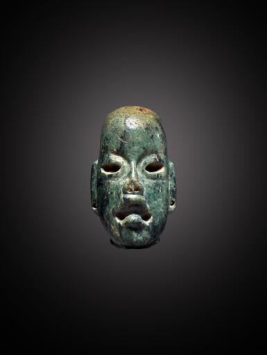 View 1. Thumbnail of Lot 103. Olmec Serpentine Head Middle Preclassic, circa 900 - 300 BC.