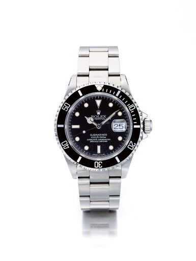ROLEX | SUBMARINER REF 16610, A STAINLESS STEEL AUTOMATIC CENTER SECONDS WRISTWATCH WITH BRACELET CIRCA 1994