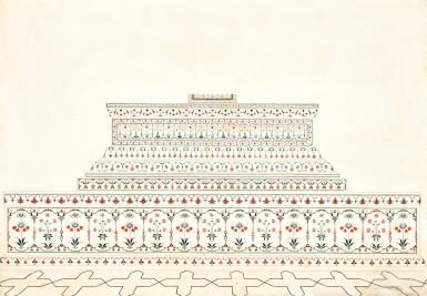 THE GRAVE OF SHAH JAHAN, AGRA, INDIA, COMPANY SCHOOL, CIRCA 1800