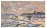 La Seine à Lavacourt, débâcle