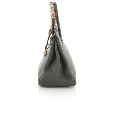 View 3. Thumbnail of Lot 34. Vert Cypress Birkin 35cm in Togo Leather with Gold Hardware, 2012.