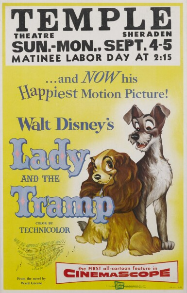 LADY AND THE TRAMP (1955) POSTER, US