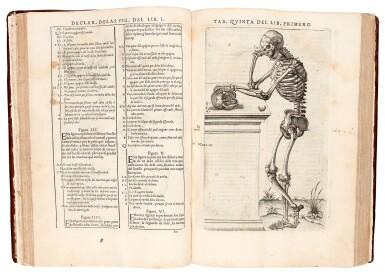 View 2. Thumbnail of Lot 54. Valverde de Amusco | Historia de la composicion del cuerpo humano, Rome, 1556, later calf.