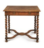A CHALRES II OYSTER-VENEERED WALNUT SIDE TABLE, CIRCA 1680