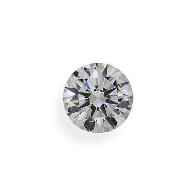 View 1. Thumbnail of Lot 2. A 4.07 Carat Round Diamond, E Color, VS1 Clarity.