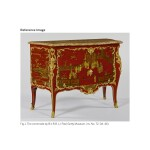 A LOUIS XV GILT-BRONZE-MOUNTED TULIPWOOD, AMARANTH AND BOIS SATINÉ MARQUETRY BOMBÉ COMMODE BY ADRIEN DELORME MID-18TH CENTURY