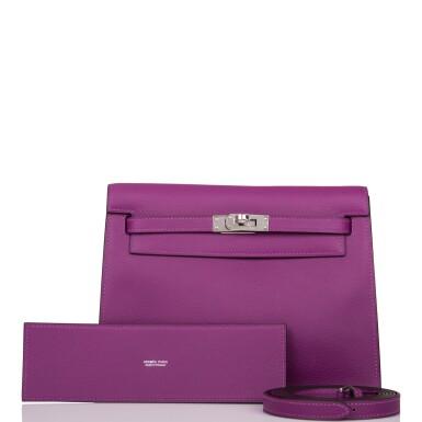 Hermès Anemone Kelly Danse II of Evercolor Leather with Palladium Hardware