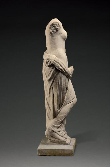 View 4. Thumbnail of Lot 241. A ROMAN MARBLE FOUNTAIN FIGURE OF A NYMPH, CIRCA 2ND CENTURY A.D..