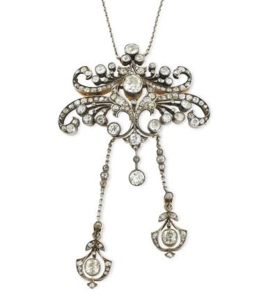 View 4. Thumbnail of Lot 4. COLLIER TRANSFORMABLE DIAMANTS | DIAMOND CONVERTIBLE NECKLACE.