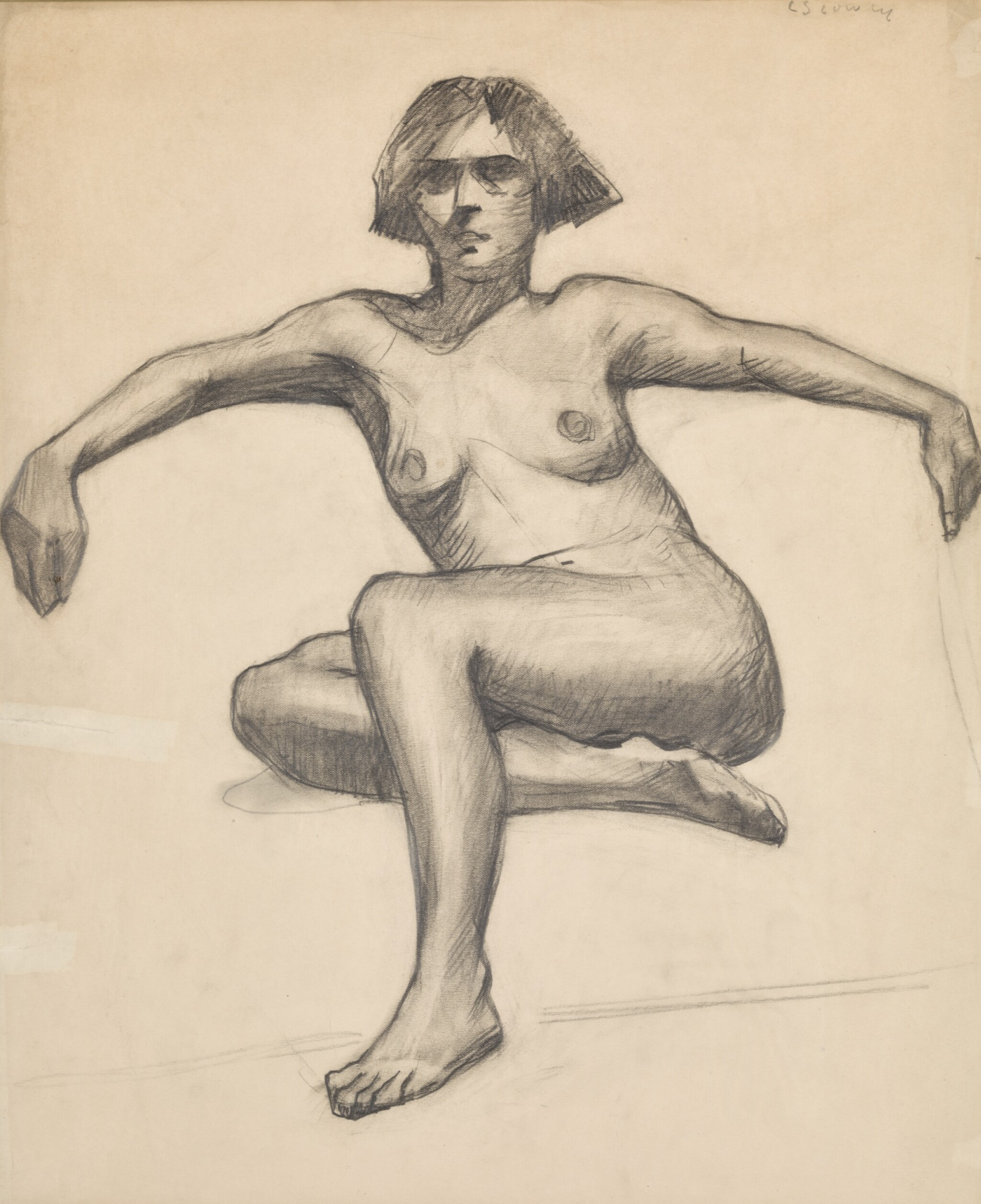 View 1 of Lot 172. LAURENCE STEPHEN LOWRY, R.A. | STUDY OF A NUDE.