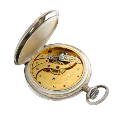 View 3. Thumbnail of Lot 397. A rare and unique large open faced watch, used on the airship Norge in the first crossing of the Polar Sea, Made in 1913.